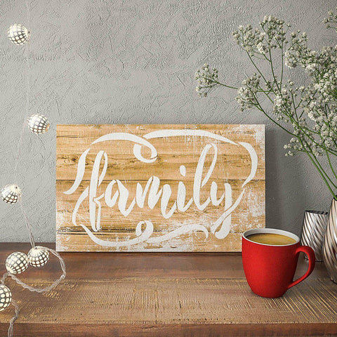 Family Sign Stencil - Farmhouse Stencils For Painting - StencilsLab Wall Stencils