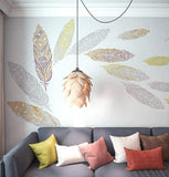 Feather Wall Painting Stencils- Large Feather Wall Art Stencils - StencilsLab Wall Stencils