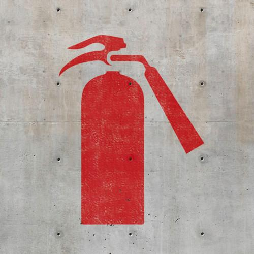 Fire Extinguisher - Safety Stencils - Industrial Stencils--StencilsLab Wall Stencils