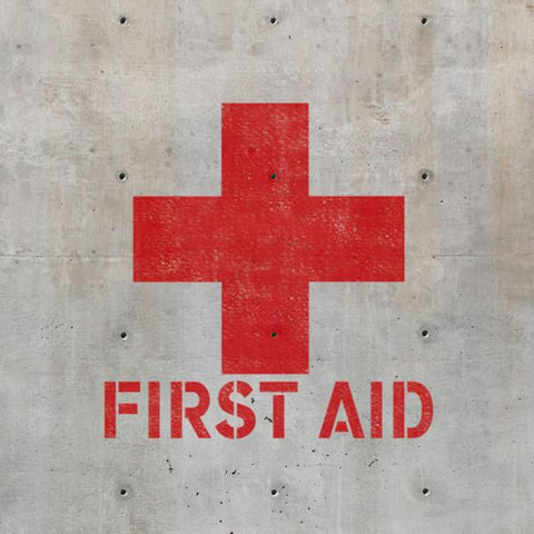 First Aid - Red Cross Sign Stencil Safety Stencils - Industrial Stencils--StencilsLab Wall Stencils