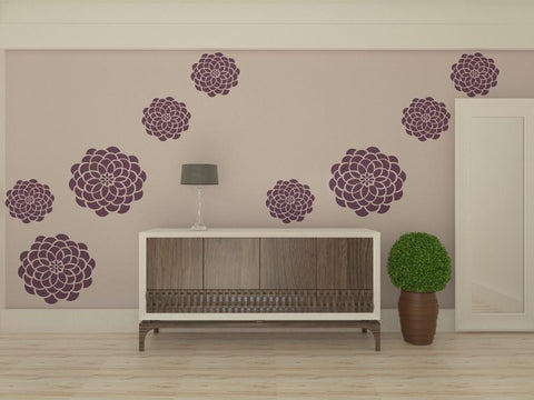 Flower Stencil For Walls - Custom Size Wall Stencils - Floral Stencil For Walls - StencilsLab Wall Stencils