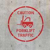 Forklift Traffic Stencil - Warehouse Floor Stencil - Safety Stencils - Industrial Stencils--StencilsLab Wall Stencils