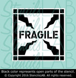 Fragile Shipping Stencil - Shipping Stencils - Industrial Stencils--StencilsLab Wall Stencils