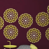 Geometric Mandala Stencil For Wall Decor- Mandala Painting Stencil - StencilsLab Wall Stencils