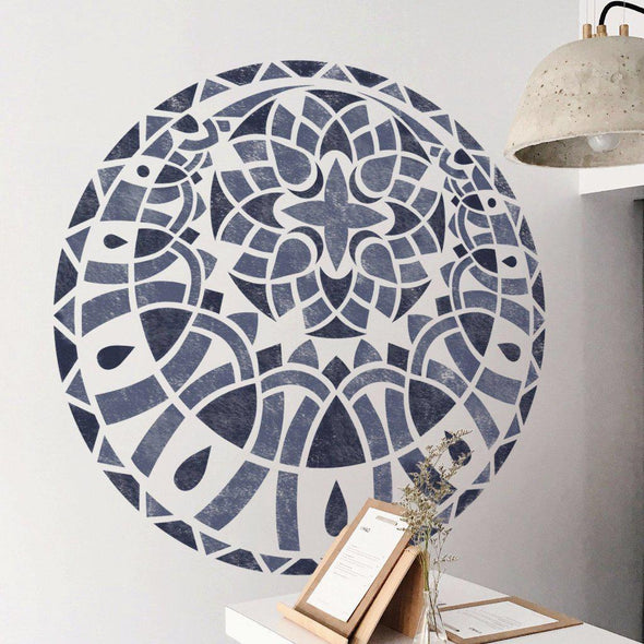 Geometric Mandala Stencil - Small & Large Mandala Stencils For Painting Walls - StencilsLab Wall Stencils