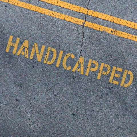 Handicapped Stencil - Parking Lot Stencils - Industrial Stencils--StencilsLab Wall Stencils