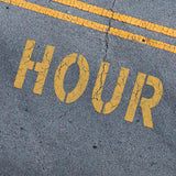 HOUR Stencil - Parking Lot Stencils - Industrial Stencils--StencilsLab Wall Stencils