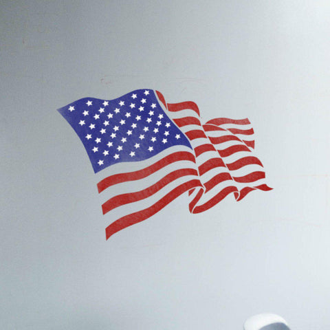 Independence Day Decorations - 4th of July Decor - Independence Day Stencil - American Flag Stencil - StencilsLab Wall Stencils