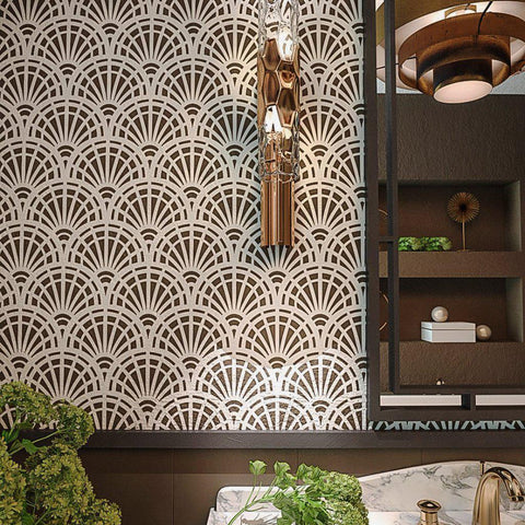 Modern Geometric Wall Stencils- Large wall stencils for painting ...
