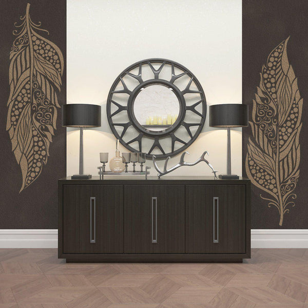 Large Feather Stencil For Walls Decorative Feather Wall