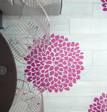 Large Flower Stencil - Unique Design Stencil - Floor Stencil - Wall Stencil Design - StencilsLab Wall Stencils