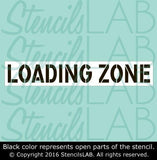 Loading Zone Stencil - Parking Lot Stencils - Industrial Stencils--StencilsLab Wall Stencils