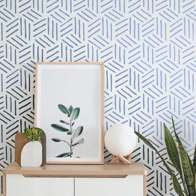 LORTIE- Modern Geometric Wall Stencil- Hexagon Wall Stencil- Reusable Stencils For Painting-StencilsLAB Wall Stencils