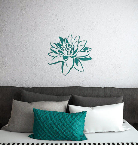 Lotus Flower Stencil- Wall Stencil With Lotus Flower- Wall Stencil - StencilsLab Wall Stencils