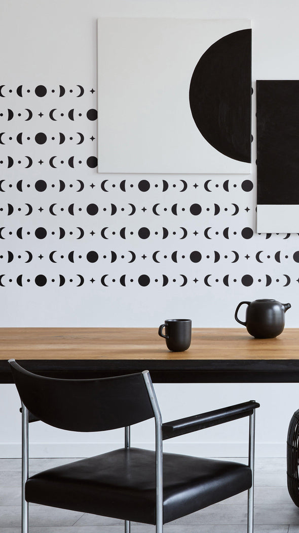 LUMI- Large Wall Stencil- Modern Decor Stencil For Painting- Moon Phases Stencil- Reusable Allover Wall Stencils-StencilsLAB Wall Stencils