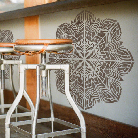 Mandala Decorative Stencil - Reusable Stencil For Painting Wall and Floor - StencilsLab Wall Stencils