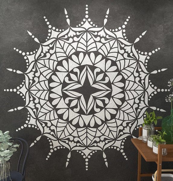 Mandala Stencil Comet Extra Large Mandala Stencils For Wall And Floor Painting