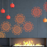 Mandala Stencil - Stencil For Home Decor - Wall Stencil - Furniture Stencil - StencilsLab Wall Stencils