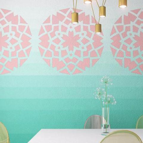 Mandala Style Stencil For Painting - Geometric Pattern Wall Stencil - StencilsLab Wall Stencils