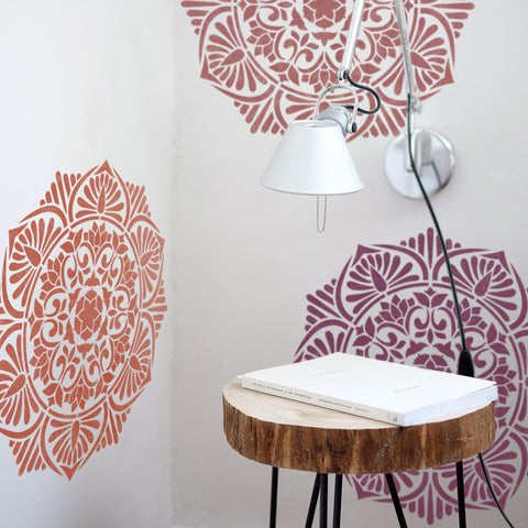 Medallion Painting Stencil - Furniture Painting Stencil - Wall Painting Stencils - Mandala Wall Stencil - StencilsLab Wall Stencils
