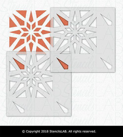 Modern Geometric Tile Stencil Reusable Stencils For Tile Painting Stencilslab Wall Stencils