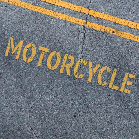 Motorcycle Stencil - Parking Lot Stencils - Industrial Stencils--StencilsLab Wall Stencils