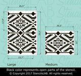 NATIVE Ornament- Accent Wall Stencil- Large Wall Stencil