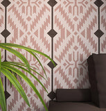 NATIVE Ornament- Accent Wall Stencil- Large Wall Stencil - StencilsLab Wall Stencils