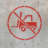 No Forklift Sign Stencil - Warehouse Stencil - Safety Stencils - Industrial Stencils--StencilsLab Wall Stencils