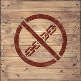 No Lifting Stencil - Shipping Stencils - Safety Stencils - Industrial Stencils--StencilsLab Wall Stencils