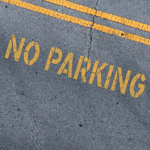 NO PARKING Stencil - Parking Lot Stencils - Industrial Stencils--StencilsLab Wall Stencils