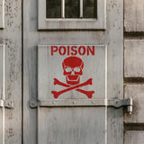 Poison Sign and Symbol Stencil - Safety Stencils - Industrial Stencils--StencilsLab Wall Stencils