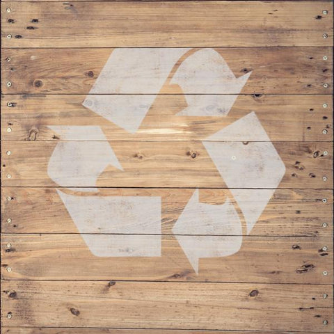 Recycle Symbol Stencil - Shipping Stencils - Industrial Stencils--StencilsLab Wall Stencils