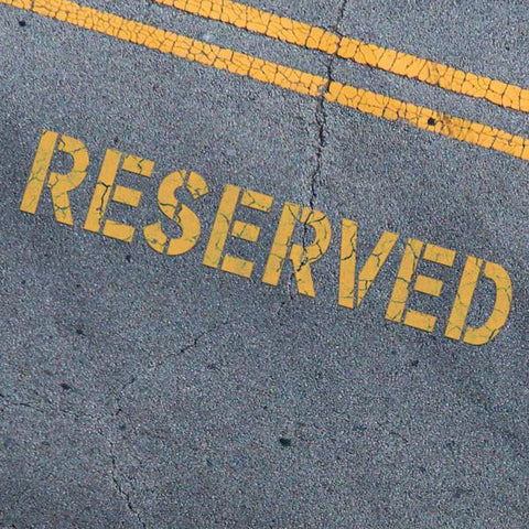 RESERVED Stencil - Parking Lot Stencils - Industrial Stencils--StencilsLab Wall Stencils