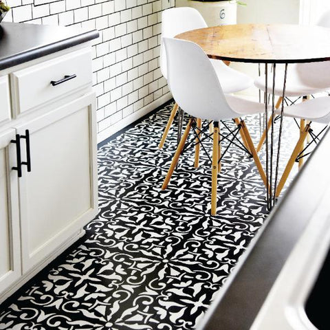 ROBYN- Portuguese Tile Stencils - Stencil For Floor And Walls - StencilsLab Wall Stencils