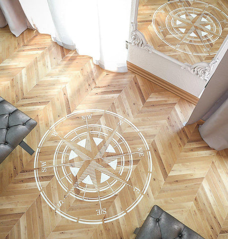 Rose Of Wind Stencil - Compass Stencil - Circular Stencil - Large Wall and Floor Stencil - StencilsLab Wall Stencils