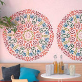 Round Decorative Mandala-Style Stencil - Unique Stencil For Wall Decor - StencilsLab Wall Stencils
