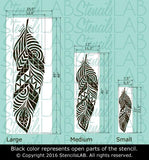 Tribal Feather Stencil For Walls - Large Feather Wall Stencil - Wall Stencil