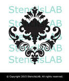 Unique Damask Wall Stencil - Classic Design Wall Stencil-StencilsLAB Wall Stencils