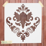 Damask Decorative Stencil