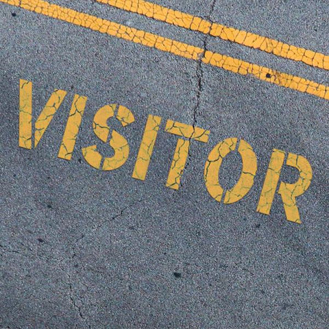 VISITOR Stencil - Parking Lot Stencils - Industrial Stencils--StencilsLab Wall Stencils