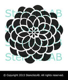 Wall Painting Stencil - Decorative Round Flower Wall Stencil-StencilsLAB Wall Stencils
