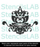 Wall Stencil - Reusable Damask Stencil For Walls - Unique Reusable Wall Decor Stencil