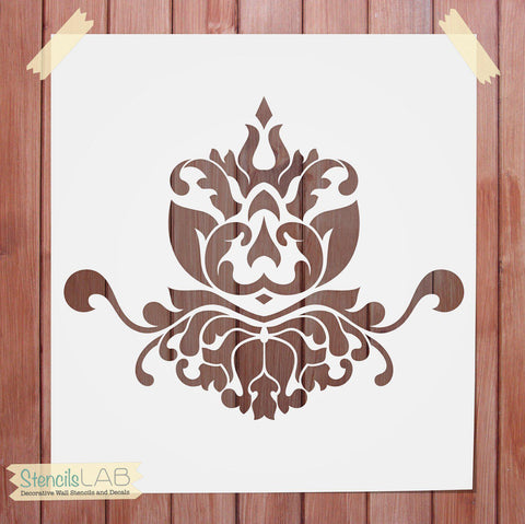 Damask Wall Decor Stencil