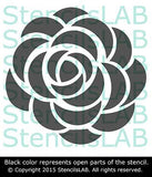 Wall Stencil - Roses Stencil For Wall Decor - Original Flower Stencil For Wall Decor