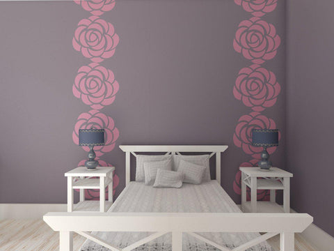 Roses Flower Stencil for Wall Decor