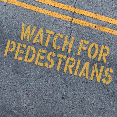 WATCH FOR PERESTRIANS Stencil - Parking Lot Stencils - Industrial Stencils--StencilsLab Wall Stencils