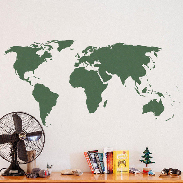 World Map Stencil - Reusable World Map Stencil instead of decals | StencilsLAB