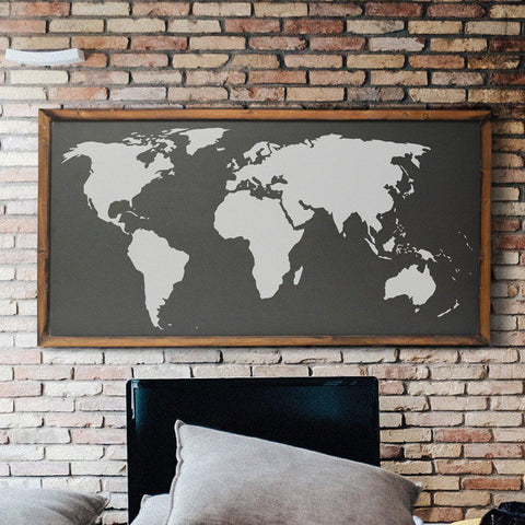 World Map Stencil- Reusable Wall Art Stencil instead of wall decals | StencilsLAB