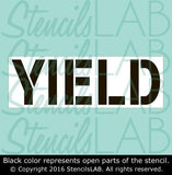 YIELD Stencil - Parking Lot Stencils - Industrial Stencils--StencilsLab Wall Stencils